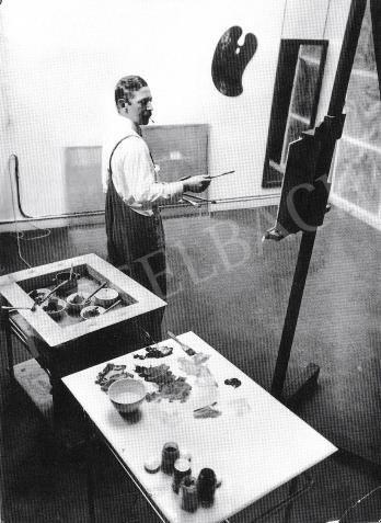 André Kertész: Farkas István párizsi műtermében, 1932