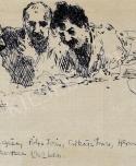 Herman Lipót: Faragó Géza, Pólya Tibor, Csikász Imre, Herman Lipót a kecskeméti műkertben, 1912