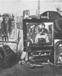 Iványi Grünwald Béla a kecskeméti műtermében (Jelfy Gyula fotója a Vasárnapi Újságban 1912/35)