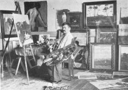 Koszta, József - Studio of Gyula Rudnay, Béla Endre and József Koszta, József Koszta in the Studio