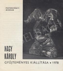 Nagy Károly - Katalógus borító, Nagy Károly saját vonósgyűjteményével, a művész nyelvvizsgabizonyítványa