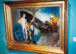 Szőnyi István - Vízparti jelenet, 1928; olaj, vászon, 65x87,5 cm, Fotó: Kieselbach Tamás
