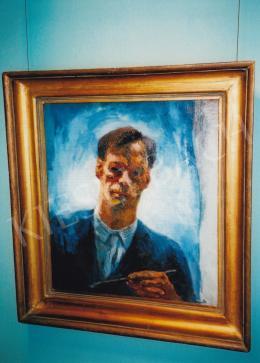 Szőnyi István - Önarckép, 1928; olaj, vászon; 63,5x57,3 cm, Fotó: Kieselbach Tamás
