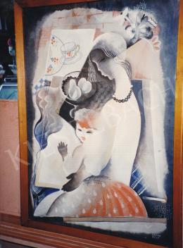 Kádár Béla - Kádár Béla: Fiatal nő gyermekével (Art deco Madonna),1930, tempera, papír, 100x70 cm; Jelezve jobbra lent: Kádár Béla; Fotó: Kieselbach Tamás