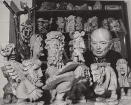 Nagy Károly - Családi fotó, Nagy Károly szobrokkal