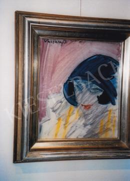 Vaszary János - Kék kalapos hölgy; Fotó: Kieselbach Tamás