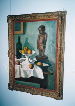 Czigány Dezső - Csendélet almákkal és kisfiú szoborral. Fotó: Kieselbach Tamás