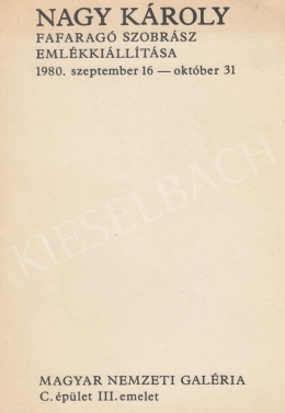 Nagy Károly - Kiállítás, 1980