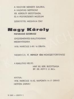 Nagy Károly - Kiállítás, 1978