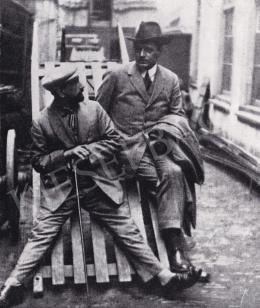 Huszár Vilmos - Huszár Vilmos és J.J. P. Oud építész az 1920-as években