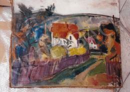 Márffy Ödön - Márffy Ödön: Pirostetős ház (Falu), 1910, Fotó: Kieselbach Tamás