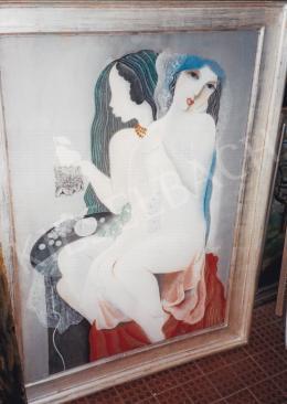 Kádár Béla - Kádár Béla:Aktok színes fátyollal, 1930-as évek közepe;Fotó: Kieselbach Tamás