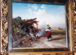 Böhm Pál - Tűz mellett; Fotó: Kieselbach Tamás