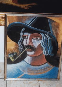 Scheiber, Hugó - Hugó Scheiber: Pipe-Smoking Man; Picture: Tamás Kieselbach