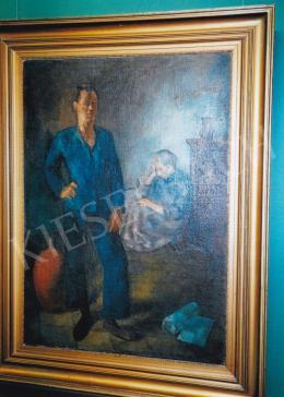Szőnyi István - Szobában (Anyám és én), 1923; Fotó: Kieselbach Tamás