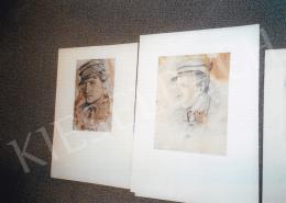 Mednyánszky László - Férfi portrék, rajz; Fotó: Kieselbach Tamás