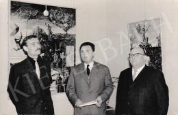 Korga György - Németh Lajos megnyitja Korga György kiállítását, 1964. február 29.