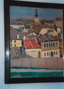 Aba-Novák, Vilmos - City View, oil on canvas, Signed lower left: Aba-Novák, Photo: Kieselbach Tamás