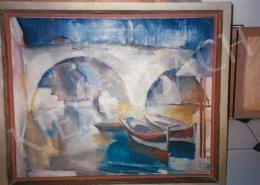 Aba-Novák, Vilmos - Bridge in Rome, 1929, oil on canvas, Signed lower left: Aba-Novák 29 Róma, Photo: Tamás Kieselbach