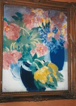 Vaszary János - Virágcsendélet; olaj, vászon; Jelezve balra fent: Vaszary J.; Fotó: Kieselbach Tamás