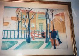 Pap Géza - Asztraháni parkban, 1916; 27 x 35,5 cm; akvarell, papír; Jelezve jobbra lent: Pap Géza Asztrahán 1916