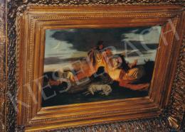 Lotz Károly - Pásztorok a tűznél,24x34 cm, olaj, vászon, J.j.l.: Lotz K., Fotó: Kieselbach Tamás