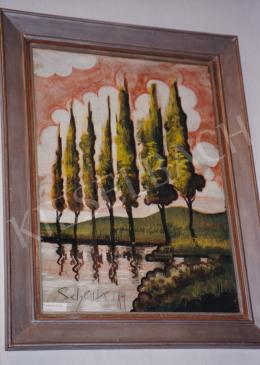 Scheiber, Hugó - Trees, mixed technique on paper, Signed lower left: Scheiber H., Photo: Tamás Kieselbach