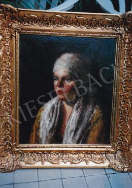 Koszta, József - Girl with Headkerchief, oil on canvas, Signed: Koszta, Photo: Tamás Kieselbach