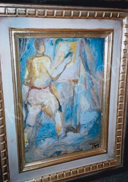 Tóth Menyhért - Festő, 42x30 cm, olaj, papír, Jelezve jobbra lent: TM, Fotó: Kieselbach Tamás