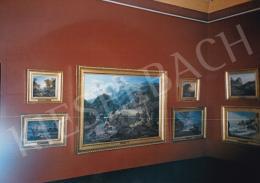 Id. Markó Károly - Id. Markó Károly festményei a firenzei Pitti Palota falán, Fotó: Kieselbach Tamás