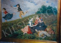 Glatz, Oszkár - Children Playing, oil on canvas, Photo: Tamás Kieselbach