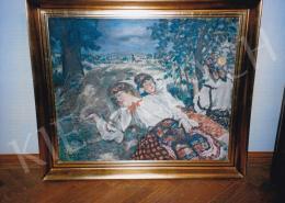 Csók István - Déli pihenő, 77x94,5 cm, olaj, vászon, Jelezve balra lent: Csók I., Fotó: Kieselbach Tamás