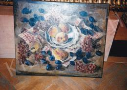 Basch Andor - Műtermi csendélet gyümölcsökkel, olaj, vászon, Jelezve jobbra lent: Basch, Fotó: Kieselbach Tamás