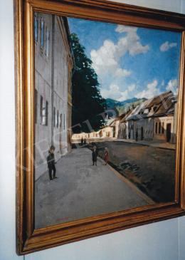 Ferenczy Valér - Utcarészlet gyerekekkel, olaj, vászon, Jelezve balra lent: Ferenczy Valér, Fotó: Kieselbach Tamás