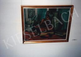 Kmetty János - Csendélet szoborral, 1912 körül, olaj, vászon, Jelezve jobbra lent: Kmetty 1912, Fotó: Kieselbach Tamás