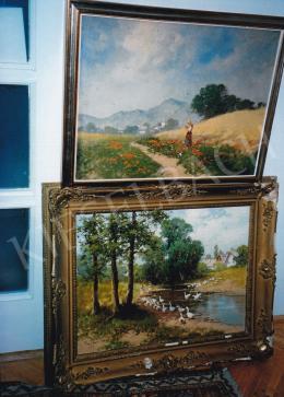 Neogrády, László - Two paintings by László Neogrády (photo: Tamás Kieselbach)