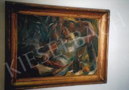 Aba-Novák, Vilmos - The Painter's Wife, oil on canvas, Photo: Tamás Kieselbach