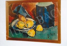 Nemes Lampérth József - Csendélet citromokkal, 1912, 28x40,5 cm, vegyestechnika, papír, Jelezve jobbra lent: NLJ 1912 I. 31., Fotó: Kieselbach Tamás