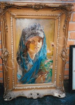 Szenes Fülöp - Női portré; olaj, vászon; Jelezve balra lent: Szenes; Fotó: Kieselbach Károly