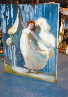 Thorma János - Táncosnő. 100x82 cm, olaj, vászon (fotó: Kieselbach Tamás)