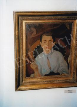 Ferenczy Károly - Cigarettázó fiú; olaj, vászon; Jelzés nélkül; Fotó: Kieselbach Károly