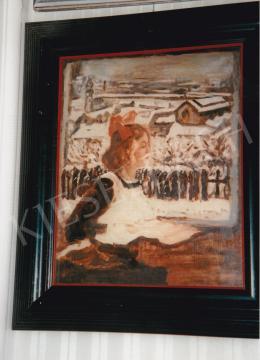 Csók István - Züzü az ablakban; olaj, vászon; Jelezve jobbra lent: Csók; Fotó: Kieselbach Tamás