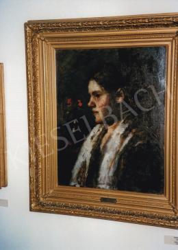 Koszta, József - Annuska with Shawé; oil on canvas; Photo: Kieselbach Tamás