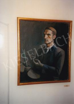 Kmetty János - Önarckép; olaj, vászon; Fotó: Kieselbach Tamás