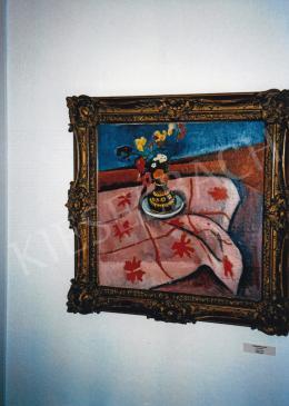 Bornemisza Géza - Virágcsendélet, 1910 körül, olaj, vászon, Jelezve jobbra lent: Bornemisza Géza, Székesfehérvár Városi Képtár- Deák-gyűjtemény, Fotó: Kieselbach Tamás