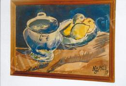 Nemes Lampérth József - Csendélet citromokkal II., 1912. 28x40.5 cm, vegyes technika (akvarell, tus), papír, j.j.l.: NLJ 1912 II./9 (fotó: Kieselbach Tamás)