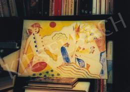 Kádár Béla - Szerelmesek, 24,5x35 cm, vegyes technika, karton, Jelezve jobbra középen: Kádár Béla, Fotó: Kieselbach Tamás