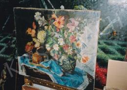Csók István - Nagy virágcsendélet, Jelezve balra lent: Csók I., Fotó: Kieselbach Tamás