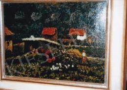 Koszta, József - Garden with Flowers, 1920, 52x72 cm, oil on cardboard, Signed lower right: Koszta, Photo: Tamás Kieselbach