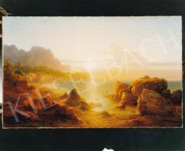 Ligeti Antal - Naplemente Caprin, 1872, 59,5x96 cm, olaj, vászon, Jelezve jobbra lent: Ligeti A 1872, Fotó: Kieselbach Tamás